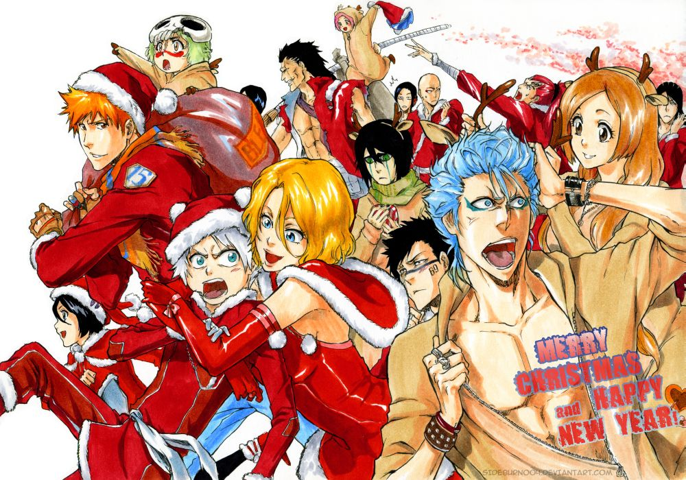 Bleach Merry Christmas And Happy New Year By Sideburn004 Daily