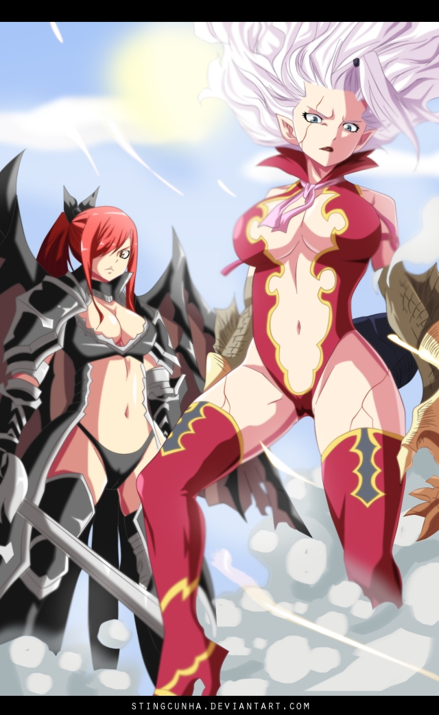 Erza And Mirajane Captured Crawford Traitor Fairy Tail 364 Daily Anime Art Mirajane has more of an answer to that than erza. erza and mirajane captured crawford