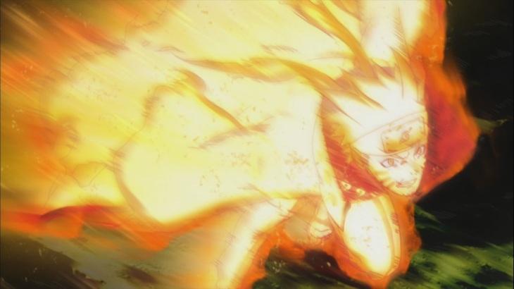 Naruto goes for the attack Bijuu Mode