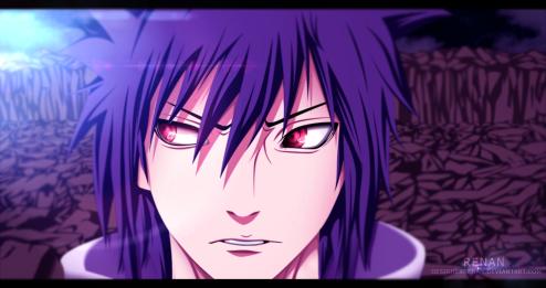 Naruto 661 Sasuke Uchiha looks Izuna Uchiha