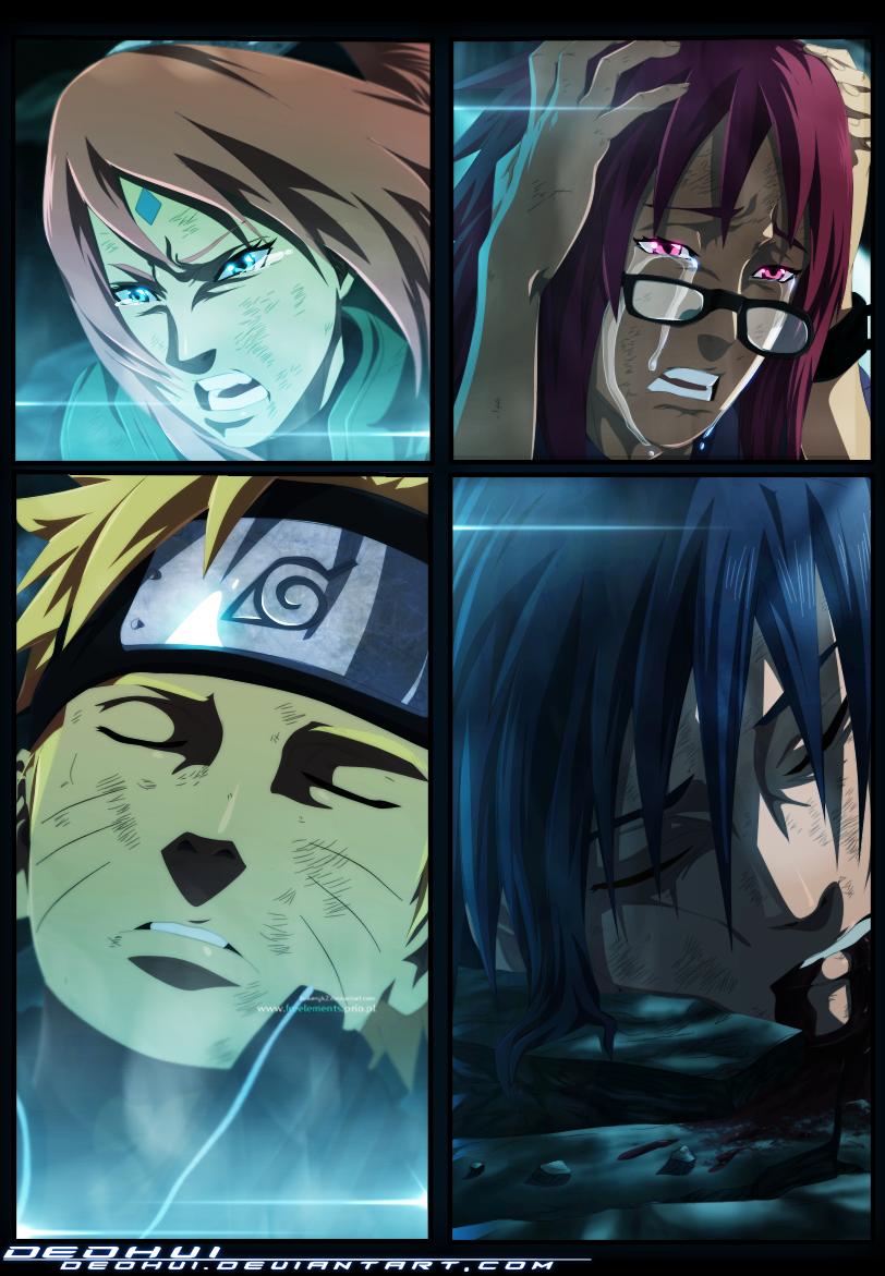 Naruto 662 naruto and sasuke to die coloured by deohvi daily anime art - Naruto and sasuki ...