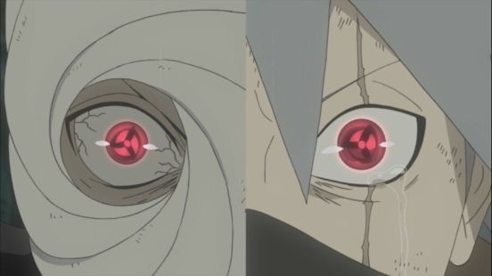 Obito and Kakashi develop Mangekyou Sharingan
