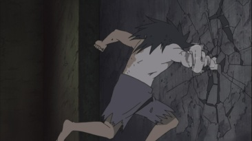 Obito's hand not strong enough
