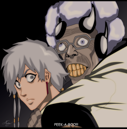 Bleach 570 Stern Ritter V and Isane Kotetsu by ayce104