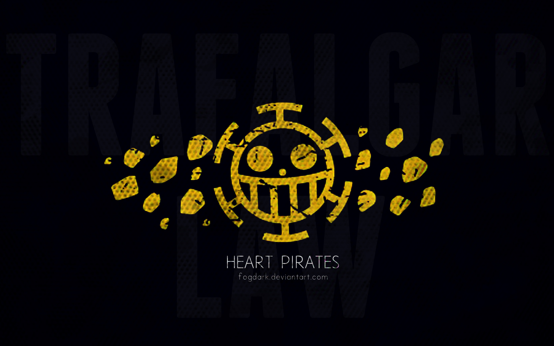 Minimalistic Heart Pirates One Piece Wallpaper by fogdark ...