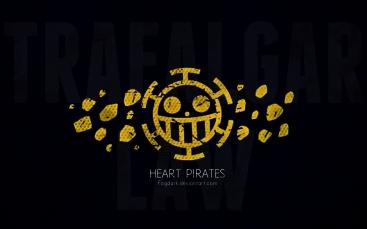 Minimalistic Heart Pirates One Piece Wallpaper by fogdark