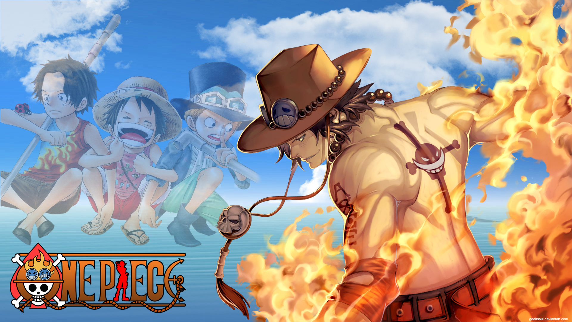 One Piece Ace HD Wallpaper by Geeksoul | Daily Anime Art