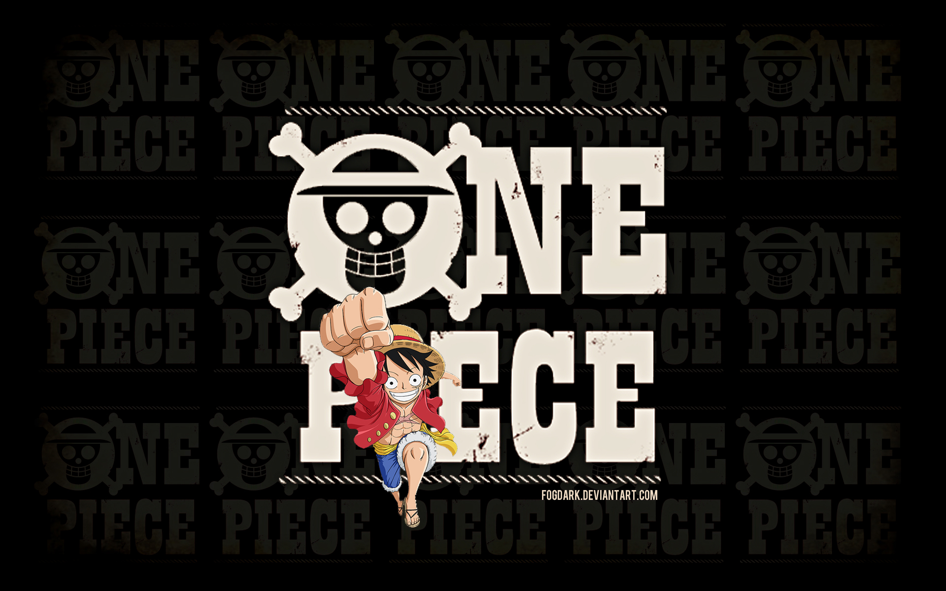 One Piece Logo Wallpaper By Fogdark