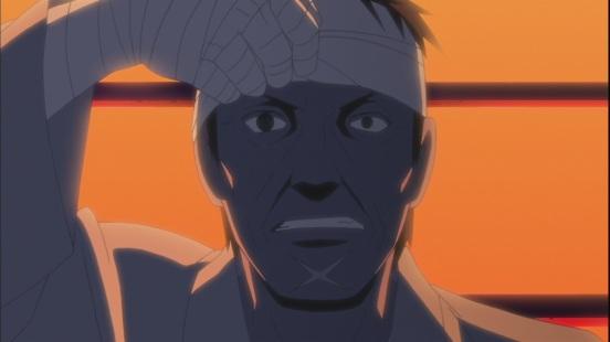 Danzo's Sharingan attacks Yamato
