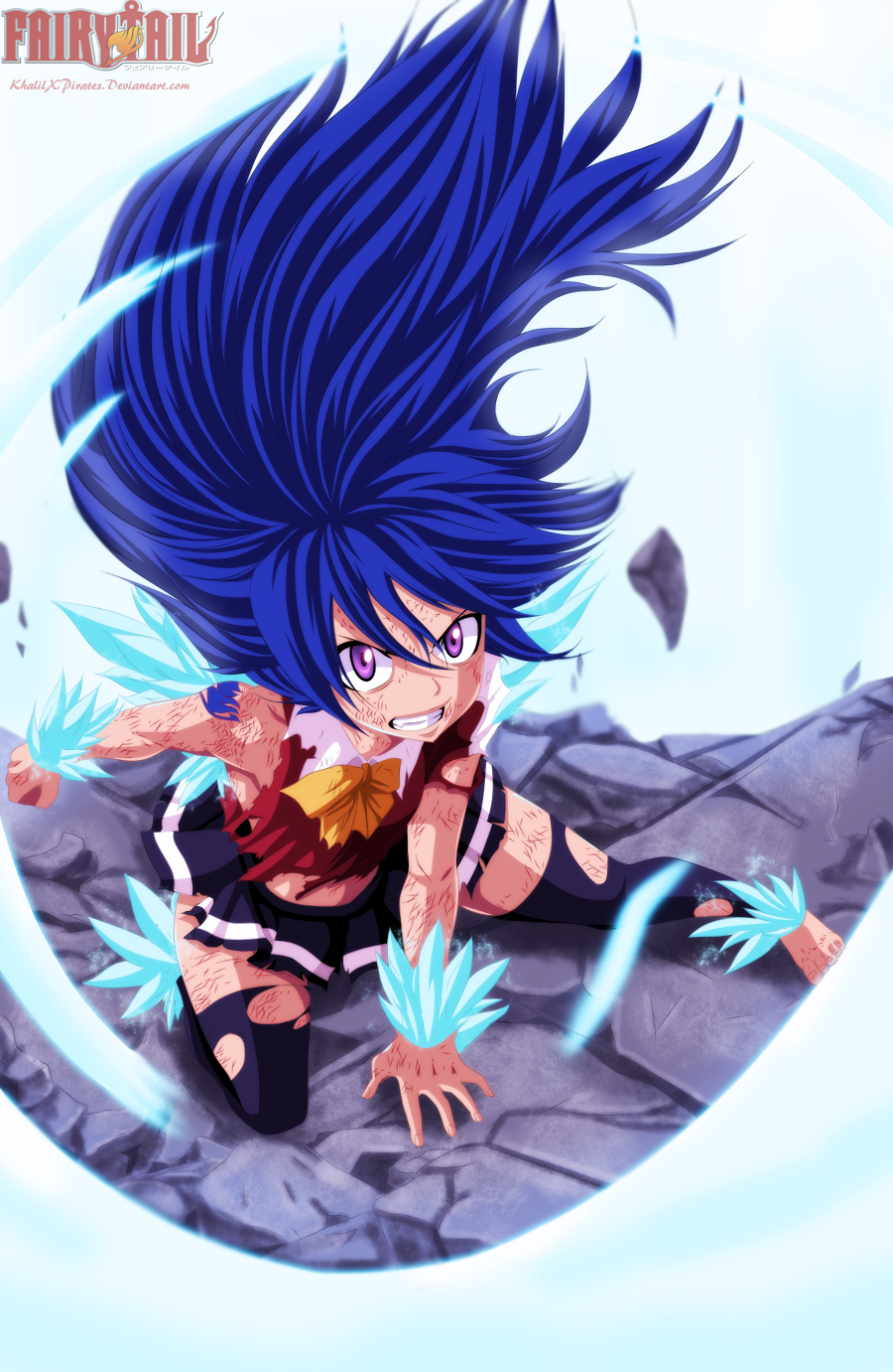 Wendy's Dragon Force! Wendy vs Ezel – Fairy Tail 376 | Daily Anime Art