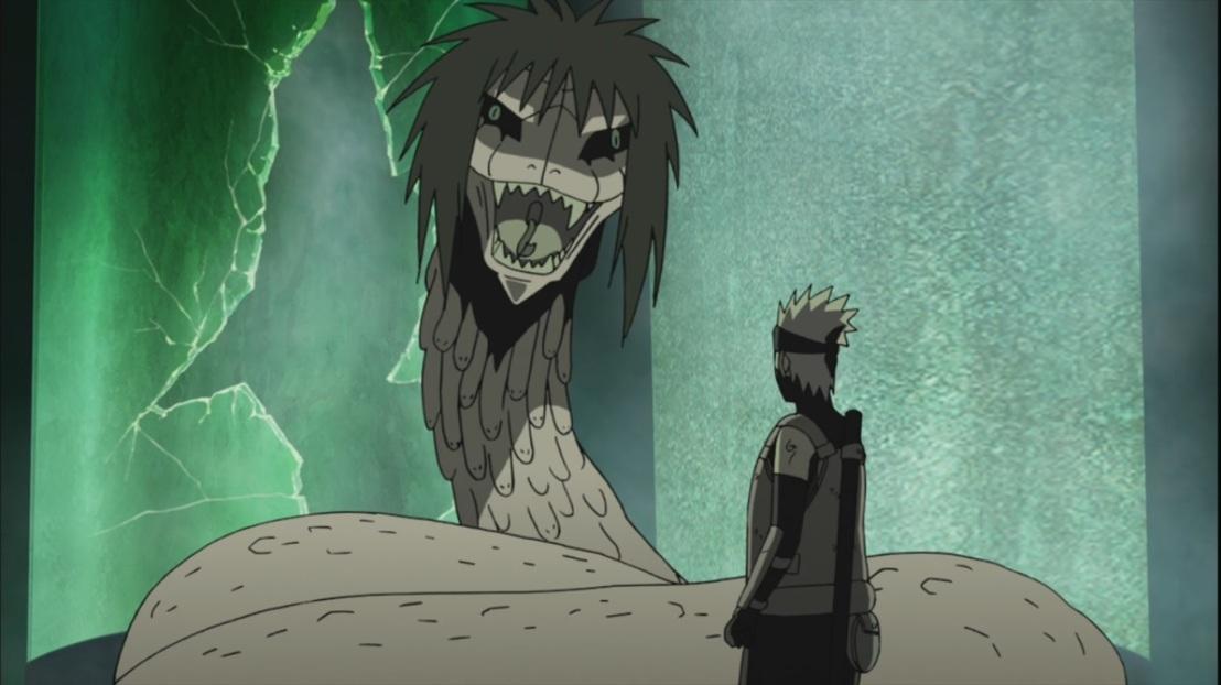 Kakashi faces Orochimaru's Snakes