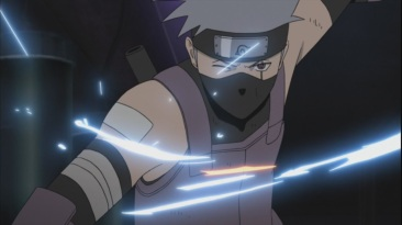 Kakashi gets attacked by Yamato