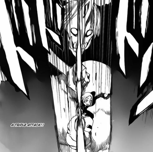 Yachiru's Sanpo Kenjuu attacks Gwenhael