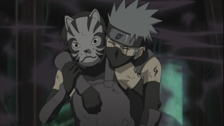 Yamato saves Kakashi from Poisonous Gasses