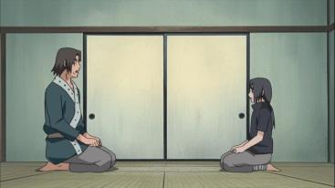 Itachi and Fugaku Uchiha