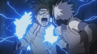 Kakashi attacks enemy