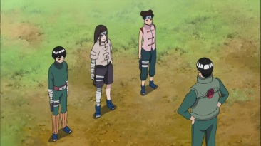 Lee Neji and Tenten talk to Guy about Exams