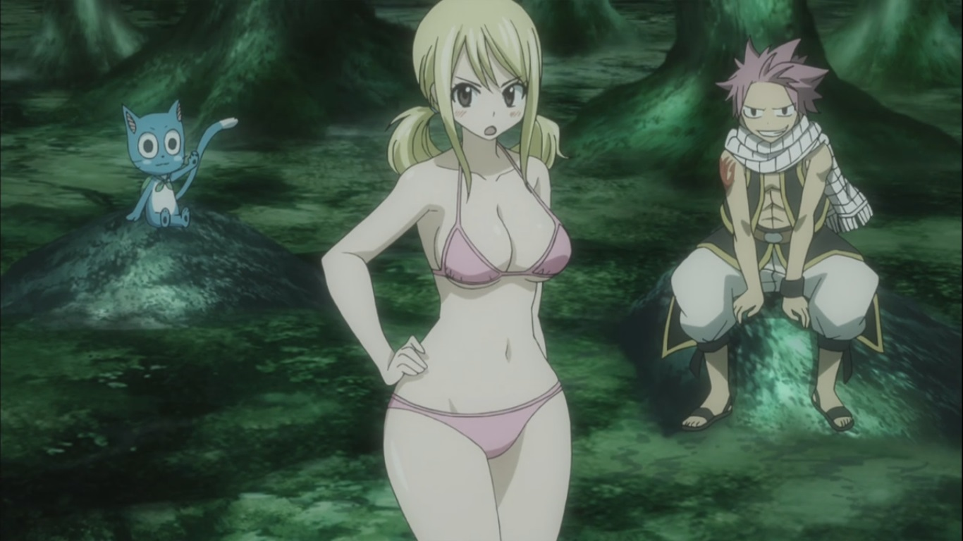 Natsu and Happy watch Lucy half naked | Daily Anime Art