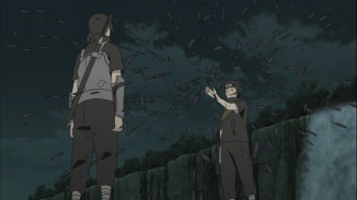 Shisui gives eye to Itachi