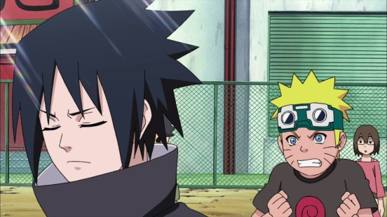 Young Naruto and Sasuke