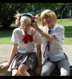 Bleach cosplay hiyori and shinji by m-a-g-i