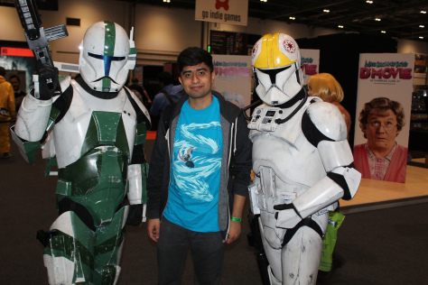 Me standing next to Storm Troopers