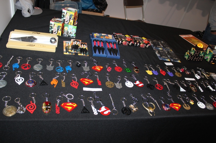 Anime Key chains available at this Comic Con booth