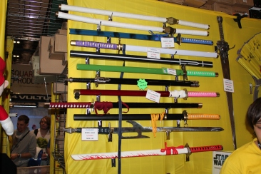 Crazy real swords at Comic Con