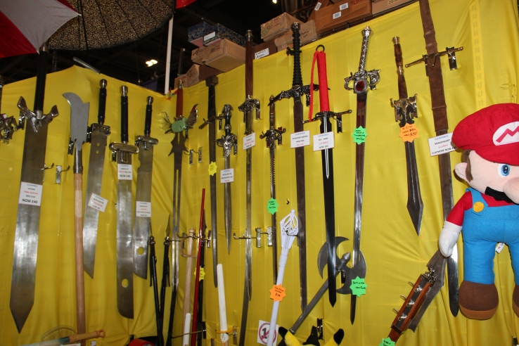 Real swords at Comic Con