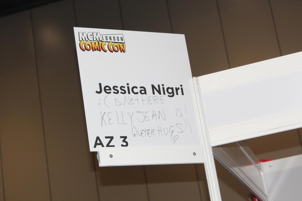 Jessica Nigri missing from Comic Con London