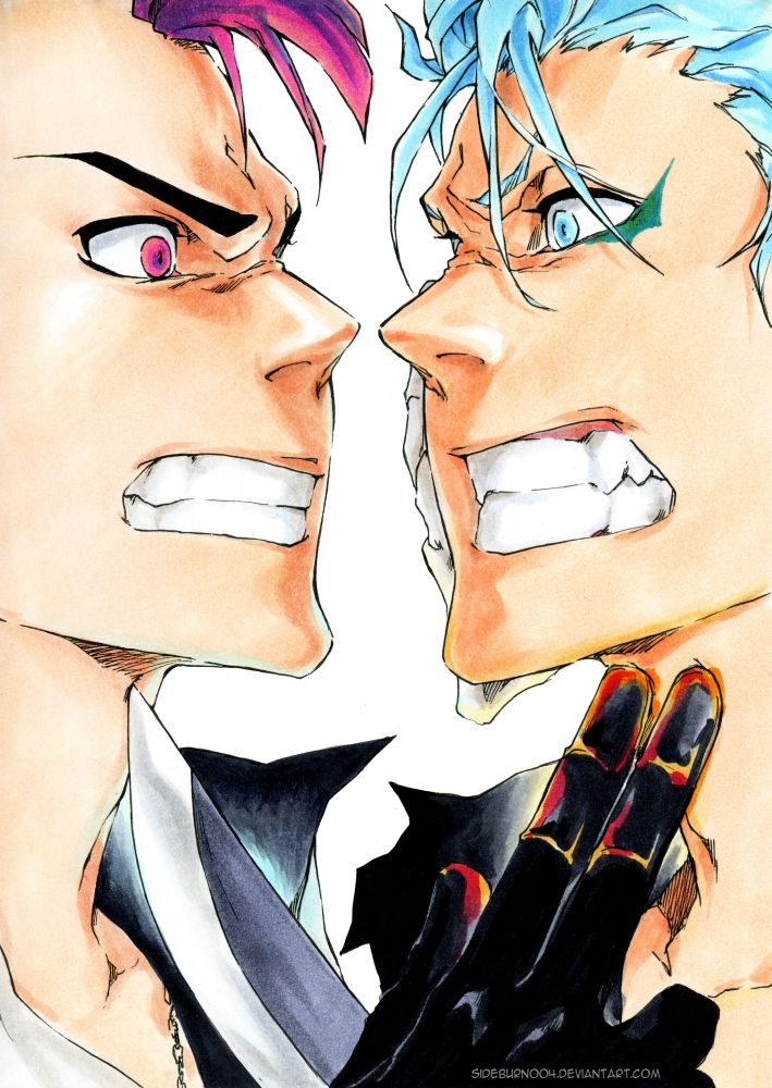 Bleach Don't Steal my Prey Bazz B and Grimmjow by Sideburn004