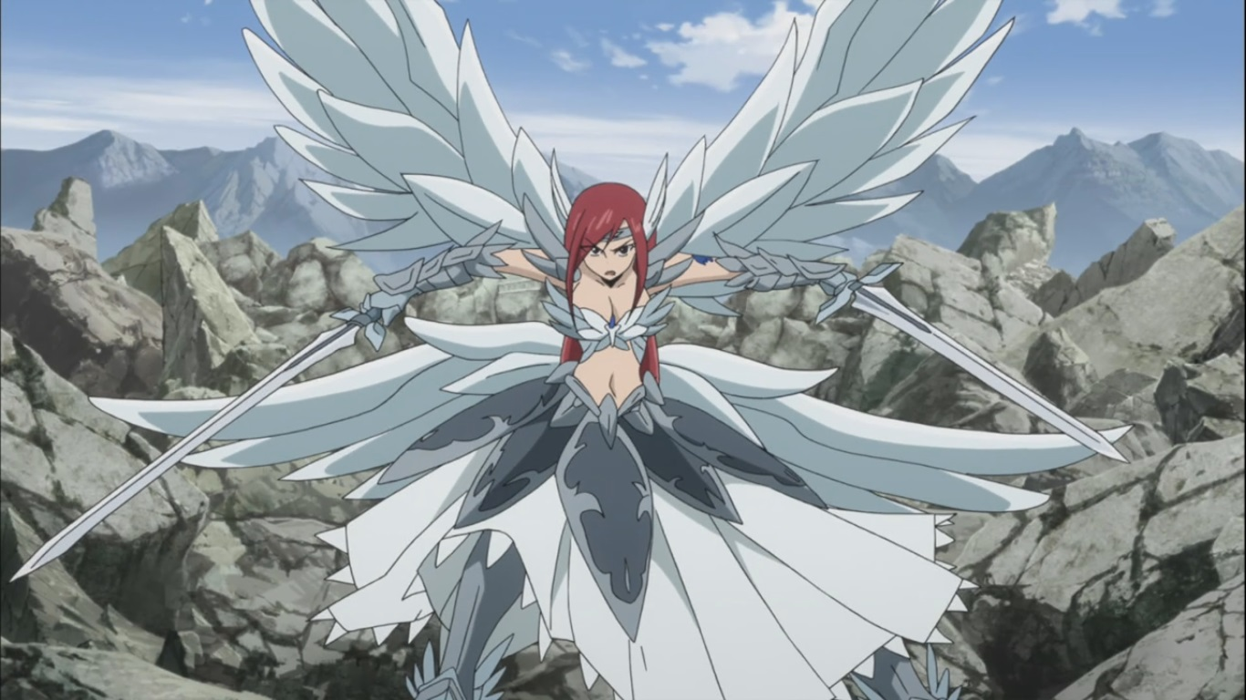 Erza's Heaven Wheels form | Daily Anime Art