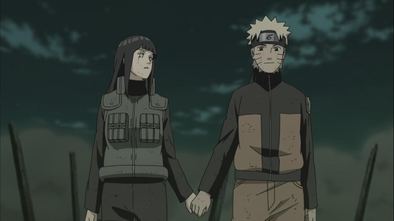 Naruto and hinata hold hands daily anime art naruto shippuden 364full resolution 1366 768 voltagebd Images