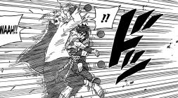 Naruto saves Sasuke from Lava