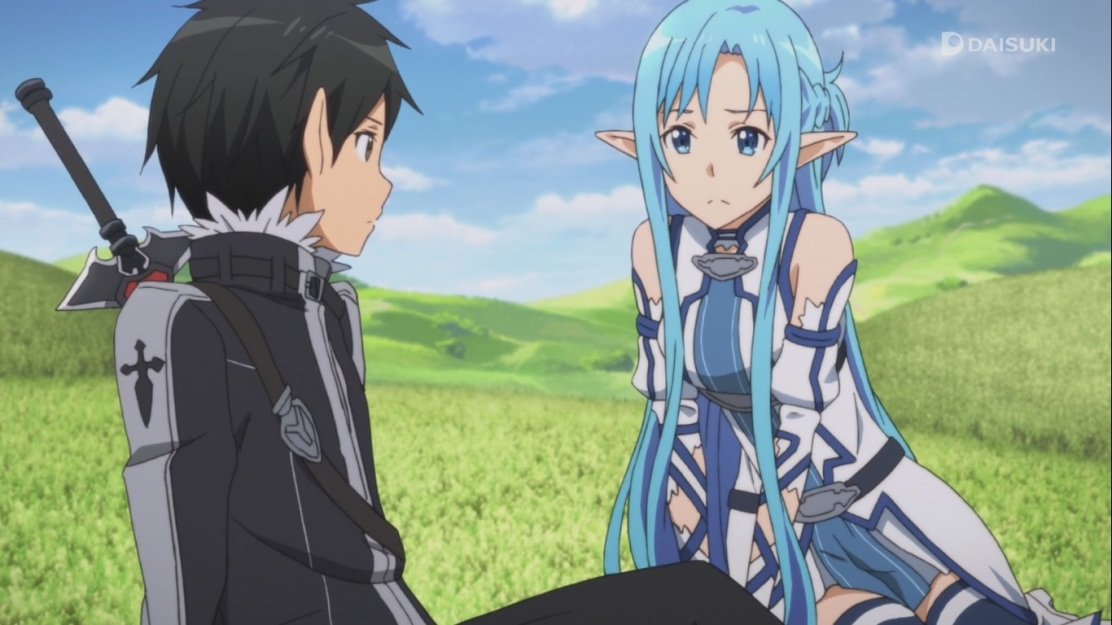 Asuna and Kirito talk