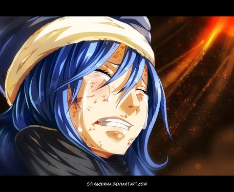 Fairy Tail 394 Juvia cries by stingcunha