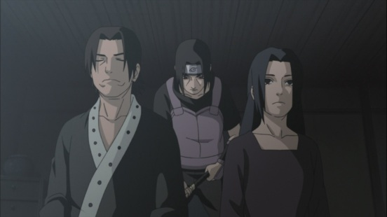 Itachi faces Mother and Father