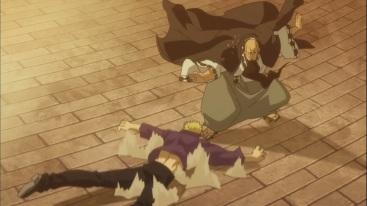 Jura smacks Laxus to the ground