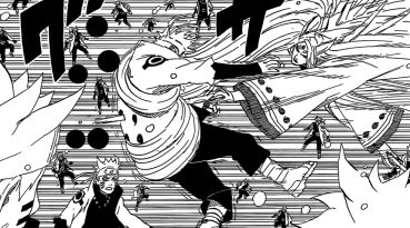 Kaguya attacks fake Naruto clone