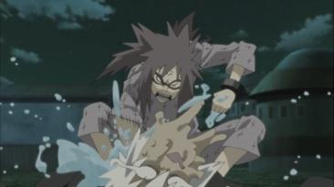 Karin kicks Suigetsu