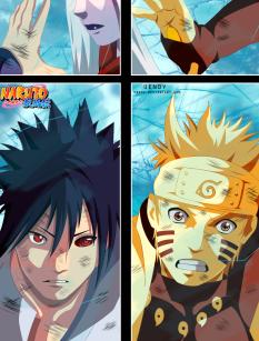 Naruto 682 Sasuke and Naruto nearly seal Kaguya by Uendy