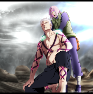 Naruto 685 Getting Started Obito and Sakura by x7rust