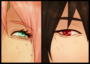 Naruto 685 Sakura and Sasuke by dymx