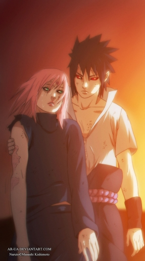 Naruto 685 Sasuke and Sakura by ar-ua