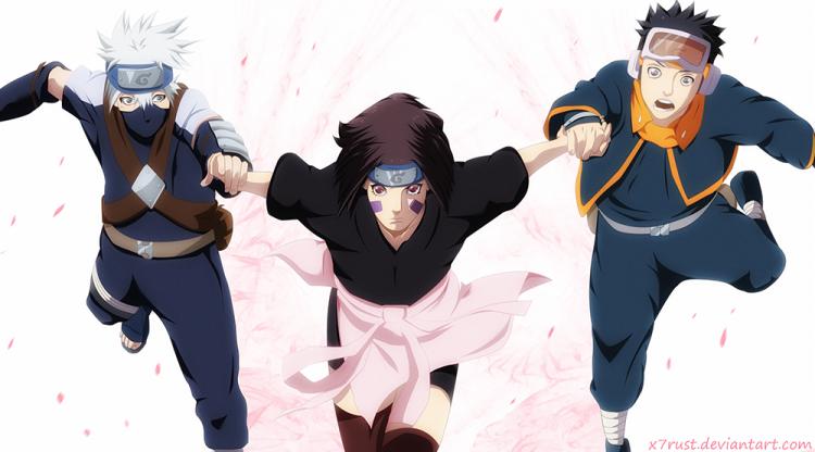 Naruto 686 Rin Obito Kakashi Follow You x7rust