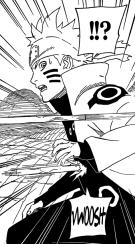 Naruto clone get hit by Kaguya's bone