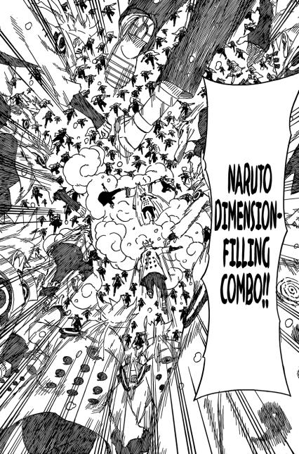 Naruto's Dimension-Filling Combo on Kaguya