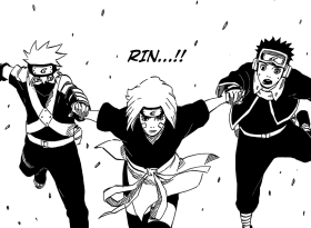 Rin helps Obito and Kakashi