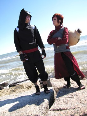 Brothers Gaara and Kankuro Cosplay by Nekomatalee