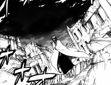 Byakuya stands tall killing Quincy